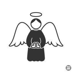 """Imádkozó karácsonyi angyalka """"1"""" Matrica"""