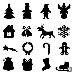 """Karácsonyi díszek """"20"""" szett Matrica (30 cm)"""