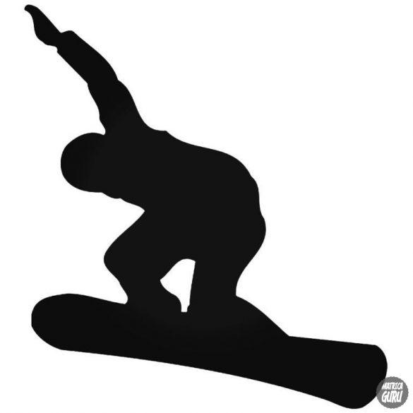 Snowboardos srác matrica