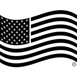 """Amerikai zászló """"1"""" Autómatrica"""