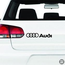 Audi matrica logó és felirat