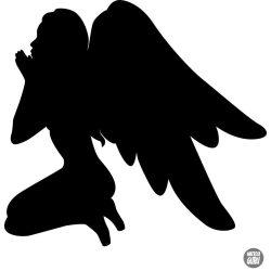 """Imádkozó angyalka """"2"""" matrica"""