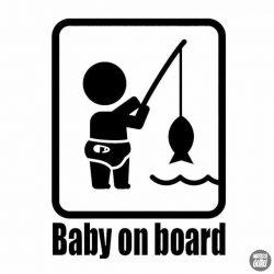 Baby on Board horgász autómatrica