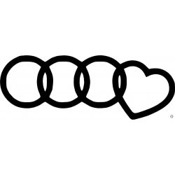 Audi matrica szivecske