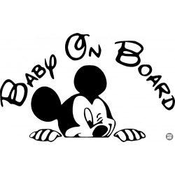 Mickey Egér Baby on Board autómatrica