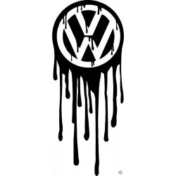 Elfolyt VW embléma matrica