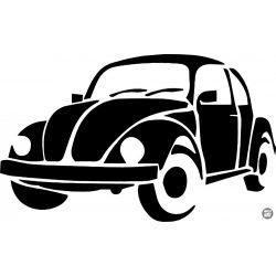 VW bogár matrica