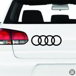 Szimpla Audi embléma matrica
