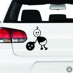 Játszó Baba autómatrica