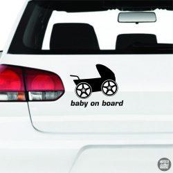Baby on Board babakocsi autómatrica