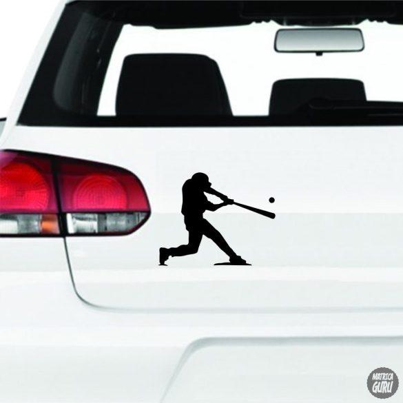 Baseball játékos matrica