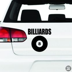 Billiards 8-as matrica