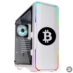 Bitcoin logó matrica