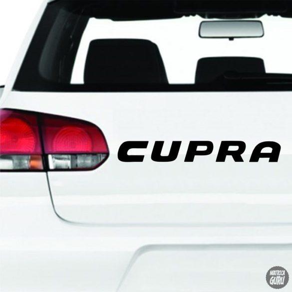 Seat matrica Cupra felirat