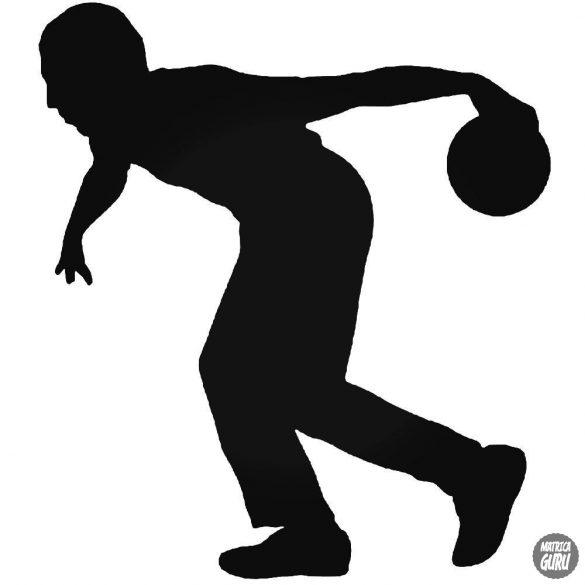 Bowlingozó ember matrica