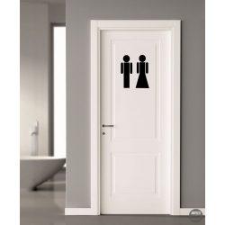 WC ajtó matrica 5