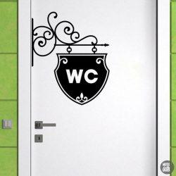 WC ajtó matrica 9
