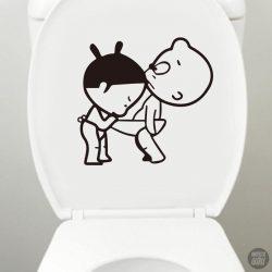 WC matrica kukkoló baba